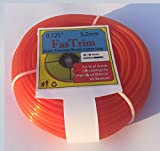 FasTrim 3.2mm(0.14 inch) 40 metre Round/Orange/Grass Cutter/Nylon Trimmer line