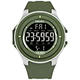 Men's Military Watches Digital Sports Watch Waterproof Tactical Watch with LED Backlight Watch (1380-AGE-WH)