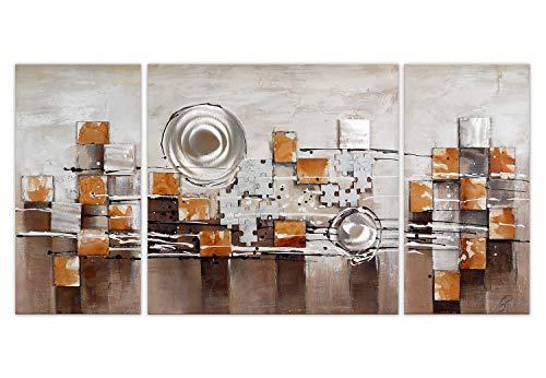 Wereld kunst TW60057 Schilderijen op Decoratieve Stretchers Abstract, Hout, 70x140x3.5 Cm