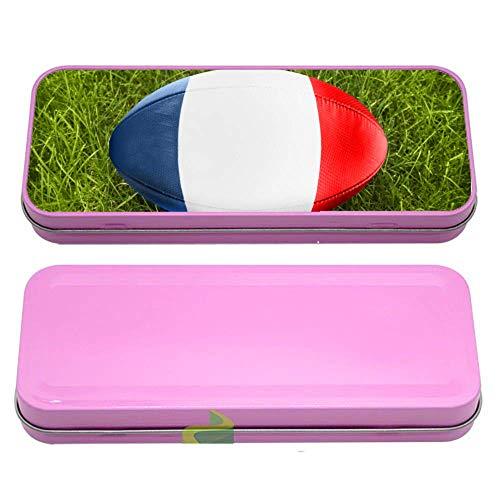 Générique Boite à Crayon Rugby Drapeau France - Rose