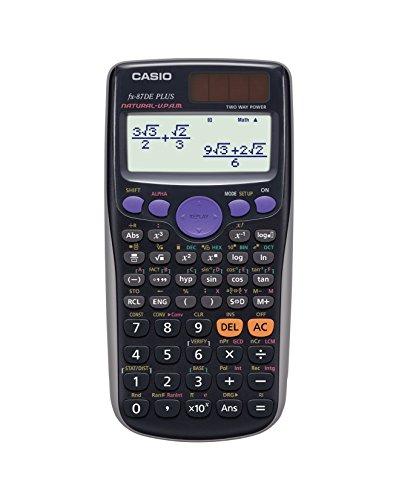 Casio FX-87DE Plus Wissenschaftlicher Taschenrechner, schwarz