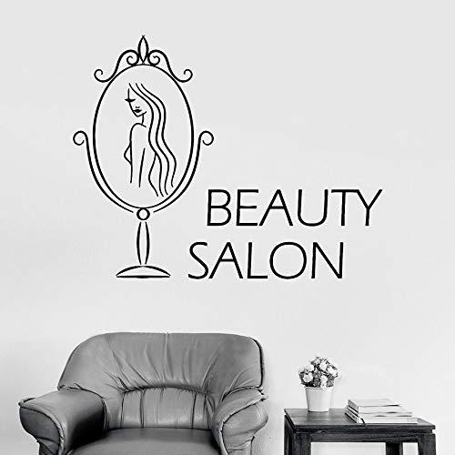Etiqueta de la pared de vinilo etiqueta de la ventana salón de belleza spa decoración de interiores espejo moda mujer arte adhesivo mural