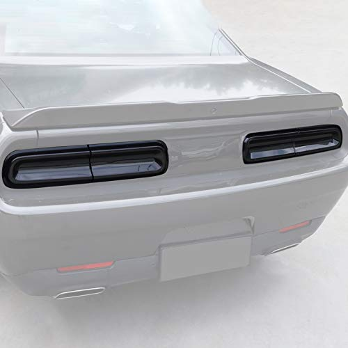 JeCar Smoked Tail Light Covers Rear Light Guards Exterior Accessories for Dodge Challenger 2015-2019