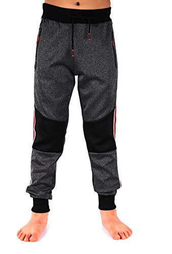 JillyMode Jogginghose I Sporthose für Junge mehre Farben mit Gummiband, mit SeitentaschenGr. 110 bis 164 (11969-Dk.Grau-10)