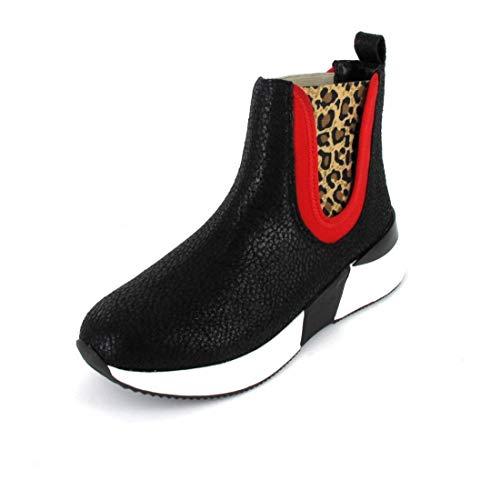 La Strada Stiefelette Größe 38, Farbe: Cracked Black