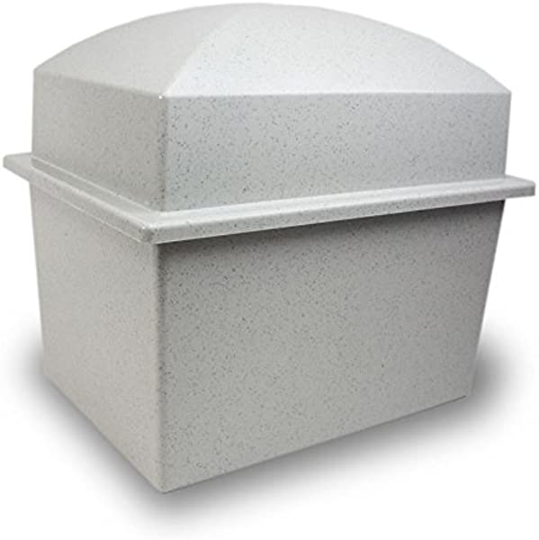 OneWorld Memorials Cremation Urn Vault Polymer Urn Vault For Burial Ideal For Two Urns Grey Outdoor Burial Vaults