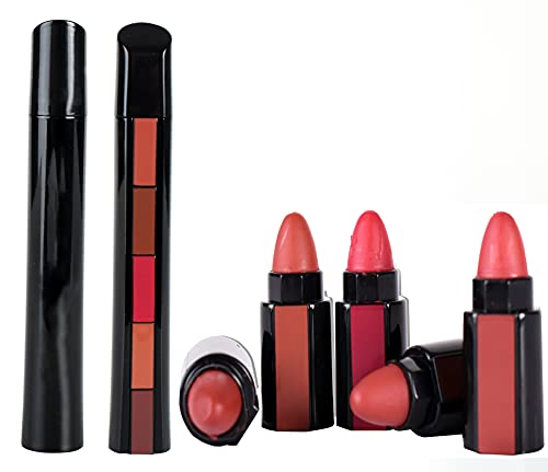 ayushicreationa 5 Shade in 1 Lipsticks Matte Finish Long-Lasting for Women and Girls Combo Pack Multicolor (Pack of 1)