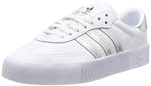 Adidas Sambarose, Zapatillas Clasicas para Mujer, Multicolor (FTWR White/Silver Met./Core Black Ee9017), 38 2/3 EU