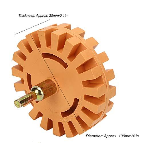 Rueda limpiadora de 25 mm de diámetro, 1 pieza, removedor de pegamento de rueda de borrador, 4 pulgadas para