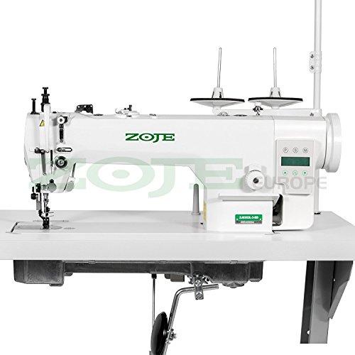 ZOJE Industrienähmaschine Nähmaschine - Leder & Polster - Zweifach Transport - Industrie Industrielle Nähmaschine - KOMPLETT (mit Tisch & Gestell)