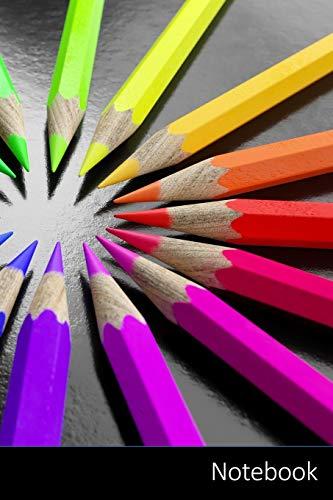 Notebook: Bleistift, Diversity, Team, Spectrum Notizbuch / persönliches Tagebuch / Schreibheft / Logbuch / Planer / Vokabelheft / Notizen - 6 x 9 Zoll ... Seiten mit Datumslinie, glänzendes Cover.