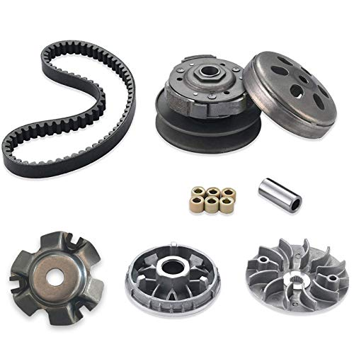 necaces Gy6 150cc clutch set,include clutch Assembly and Variator Assembly with 743 belt, fit for GY6 125cc And 150cc 4-Stroke Engine Scooter ATV Taotao Roketa
