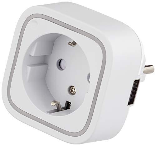 Aeon Labs ZW096-C16 Aeotec Smart Switch 6 con Puerto de Carga USB, Z-Wave Plus, Control Inalámbrico Enchufe del Zócalo para la Automatización de la Seguridad Casera, Mini Tamaño 13A, 230 V