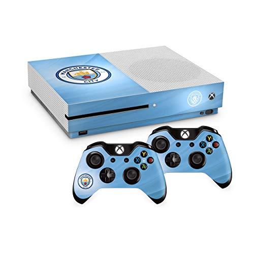 Preisvergleich Produktbild Offizielles Manchester City FC Xbox One S Konsole Haut und 2 x Controller Haut Combo Pack