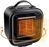 CHANSBO Space Heater, Portable Personal PTC Ceramic Heater Safe Oscillating Electric Heater Fan