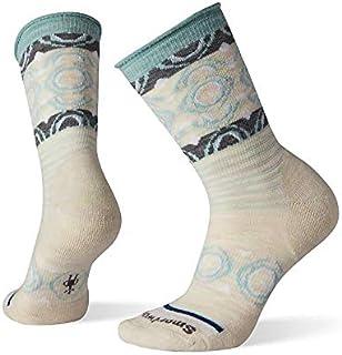Calcetines de lana sin presión para mujer, sin ataduras, estampado de palma, ultraligero acolchado de lana merino Performance calcetines