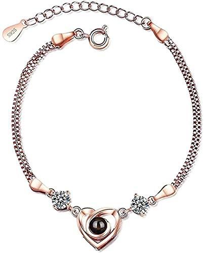 NC190 Collar Pulsera en Forma de corazón Mujeres Collar de joyería de Memoria de Amor de Personalidad Simple