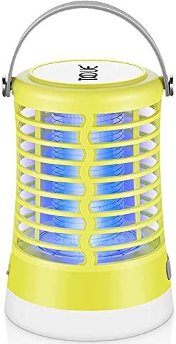 TXDUE Insektenvernichter Glühbirne 2-In-1 für den Außen- und Innenbereich elektrischer Mückenfalle, schnurlos, wasserdicht tragbare wiederaufladbare Campinglaterne für Camping Zuhause Gärten Grün