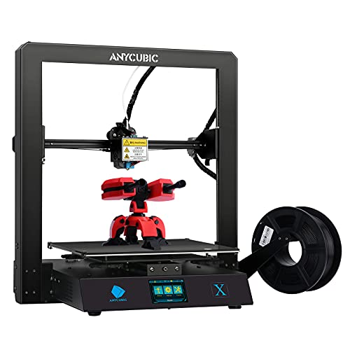 ANYCUBIC MEGA X FDM 3D Printer Large Printing Size 11.8(L) x 11.8(W) x 12(H)in, Desktop 3D Metal Printer with Resume Print & 1kg PLA Filament, DIY 3D Printers w/ Dual Z-axis Upgrade Kit High Precision