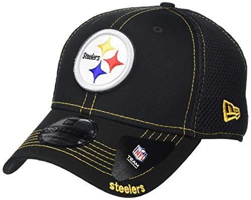 New Era Men's Black Pittsburgh Steelers Neo 39THIRTY Flex Hat