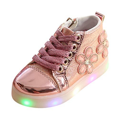 Baskets LED Enfant Fille Lapin Chaussures Sport, Chaussures de Sport Lumineuses Clignotants à LED Bas âge BéBé Multicolores Mode Sports Baskets by Hliyy