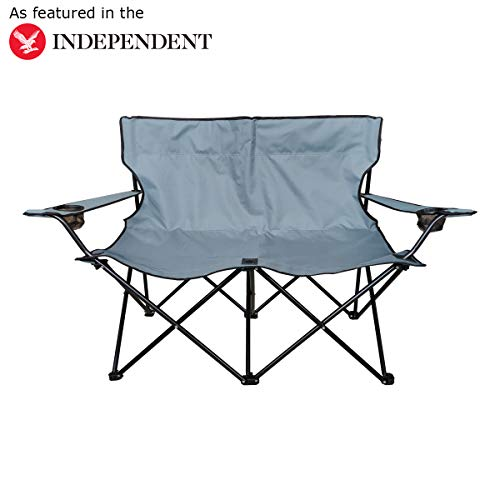 Charles Bentley Odyssey Double Folding Camping Chair Love Seat Sofa Travel...