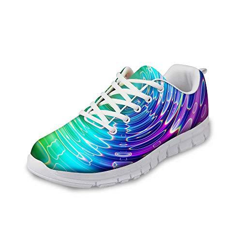 MODEGA schillernde Schuhe Glitzerschuhe Bunte Muster Schuhe Frauen Bowlingschuhe 8.5 Reise Schuhe für Männer Racquetball Schuhe tägliche Schuhe für Frauen und Größe 44 EU|9 UK