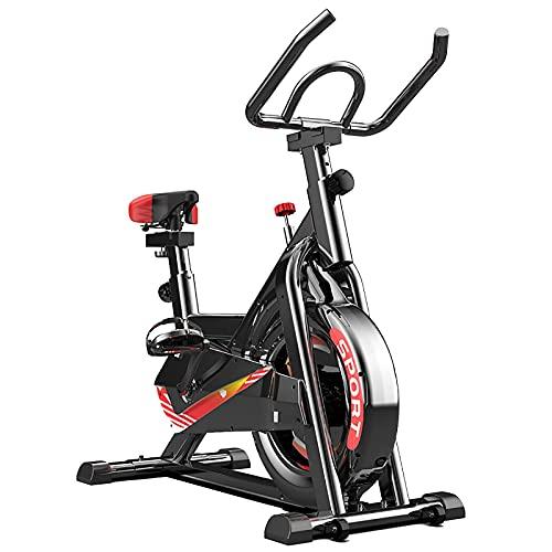 XLAHD Bicicleta de Ciclismo de Interior estacionaria, Bicicleta de Ciclo para Gimnasio de Cardio en casa, Bicicleta de Entrenamiento con transmisión por Correa con Volante, Marco Engrosado