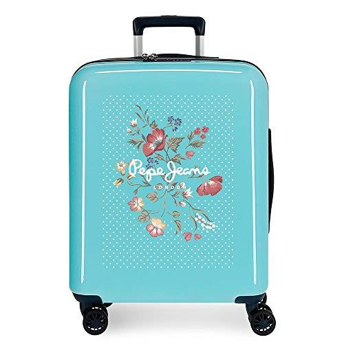 Pepe Jeans Estela Cabin Suitcase Blue 40 x 55 x 20 cm ABS Rigid Integrated TSA Closure 38.4 L 2 kg 4 Wheels Double Hand Luggage