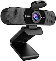 WEBカメラ eMeet C960 ウェブカメラ HD1080P 200万画素 90°広角 目隠しカバー付き パソコンカメラ ワイドサイズ対応 内蔵マイク skype会議用PCカメラ eMeetLink利用可能 Windows 10/8 /...