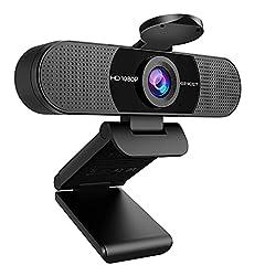 WEBカメラ eMeet C960 ウェブカメラ HD1080P 200万画素 90°広角 目隠しカバー付き パソコンカメラ ワイドサイズ対応 内蔵マイク skype会議用PCカメラ eMeetLink利用可能 Windows 10/8 / 7 Mac OS X, Youtube, Skype