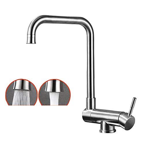 rubinetto cucina abbattibile Cucina in acciaio inox 304 miscelazione acqua calda e fredda miscelatore pieghevole rotante lavello interno lavello rubinetto lavello