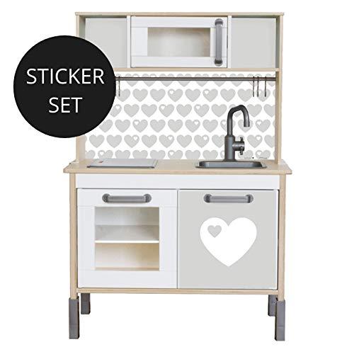 Limmaland Sticker byGraziela für IKEA DUKTIG (Grau) - Kinderküche Nicht inklusive