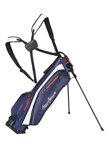 """MACGREGOR Unisex-Adult MACBA1G 140 MACTEC Water Resistant 6.5\"""" Inch Sunday Golf Club Stand Bag, Navy, One Size"""