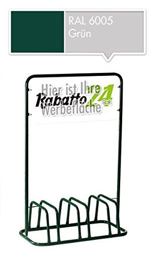 3er Werbe-Fahrradständer mit Werbeschild / Fahrradhalter + Werbetafel (Grün)