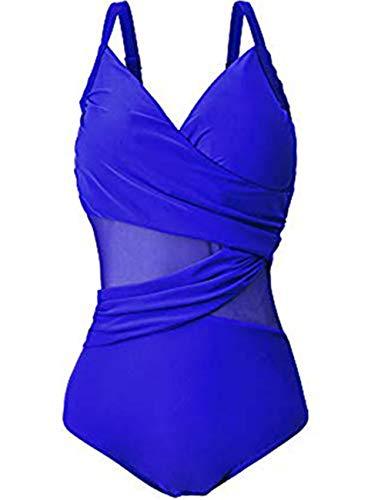 Damen Einteilige Schwimmanzug Schwimmrock Rock Rüschen Retro Badeanzug Baderock Bottom Slip Polsterung Bikini Tankini