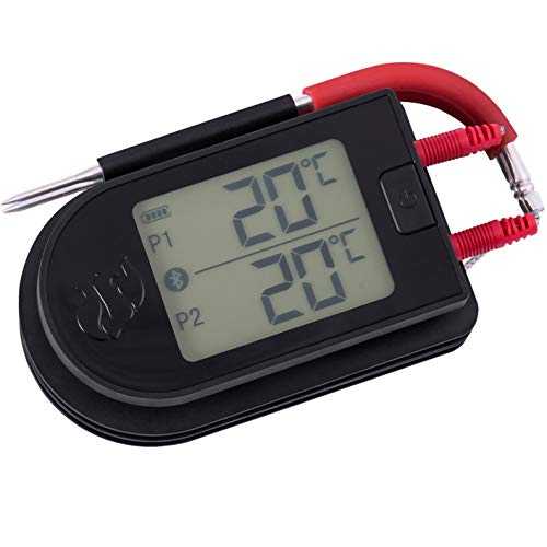 Landmann Digital Thermometer Selection Smart Thermometer App steuerbar - überwachen Sie Ihr Grillgut in Echtzeit auf dem Handy | Zwei Temperaturfühler für 2 Grillstücke [App für IOS und Android]