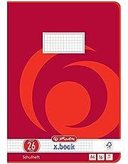 Herlitz 3322609 - Cuaderno (A4, a cuadros, con margen, diseño 26, 16 páginas, 8 motivos, 10 unidades)