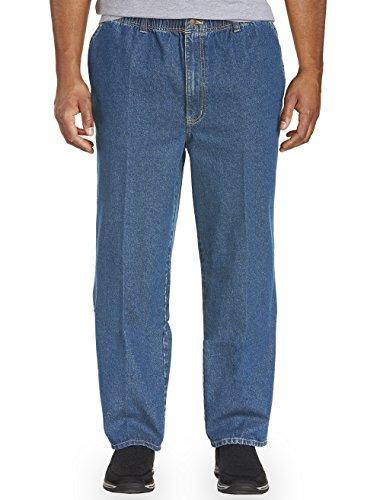 Harbor Bay by DXL Big and Tall Full-Elastic Waist Jeans, Medium Stonewash, 6X Waist/30 Inseam