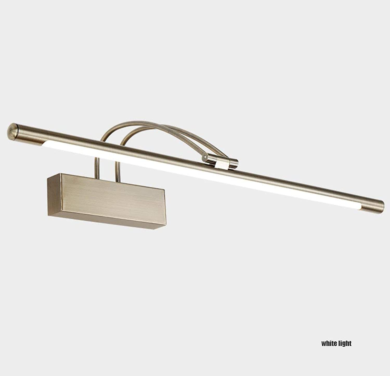 Amerikanischen LED Retro Europischen Spiegel Frontleuchte für Badezimmerspiegel Schrank Lichter Make-Up Lampen Bronze Legierung Persnliche Wandleuchte Acryl Spiegel Frontleuchte (Farbe  We