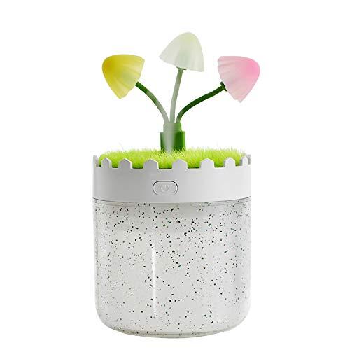 Leyeet USB Cool Mist lámpara de seta portátil mini humidificador atomizador de niebla para la oficina hogar coche decoración