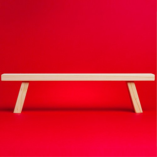 Sikora B2 einfache Holz Schwibbogenbank Schwibbogen Erhöhung L: 44 cm