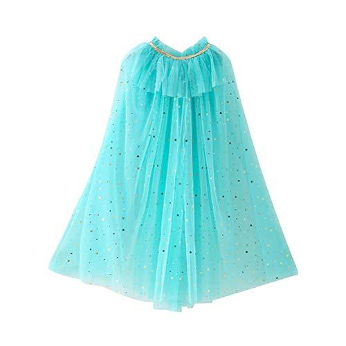 Fenical Kinder Cape Umhang Prinzessin Cosplay Kostüm für Mädchen (Hellblau)