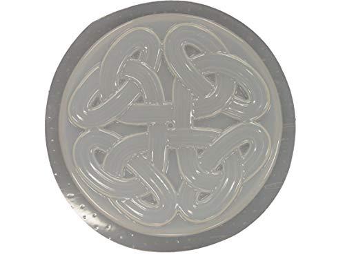 Celtic Weave Concrete Plaster Stepping Stone Mold 1198