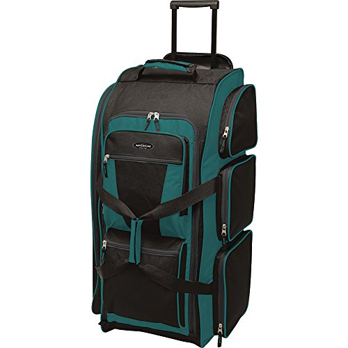 """Travelers Club 30""""""""Xpedition"""" Multi-Pocket Upright Rolling Duffel Luggage, Teal Option"""