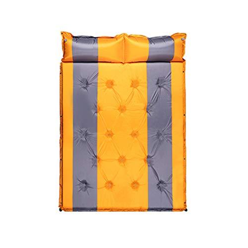 Wjfijz Colchón de Aire Viajar portátil portátil portátil automático Inflable cojín Coche de Picnic al Aire Libre Camping 3cm Yellow