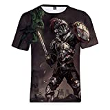 YJXDBABY-Goblin Slayer-Unisex 3D Printed Short Sleeve T-Shirt,Summer Men's T-Shirts Casual Graphic,Relaxed Easy Round Neck T-Shirt Top,Child Breathable Tees Top-M