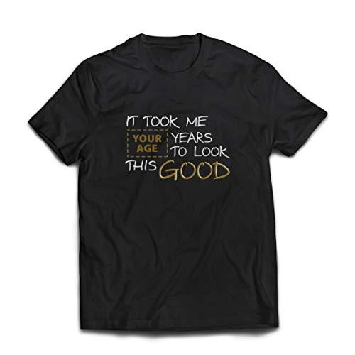 lepni.me Camisetas Hombre Se necesitaron años de Costumbre para lucir Estos Buenos Trajes de Regalo (XXXX-Large Negro Multicolor)