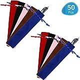50 Piezas Bolsa de Lápices de Terciopelo Bolsa de Bolígrafos con Cordón para Bolígrafos y Lápices (Multicolor)