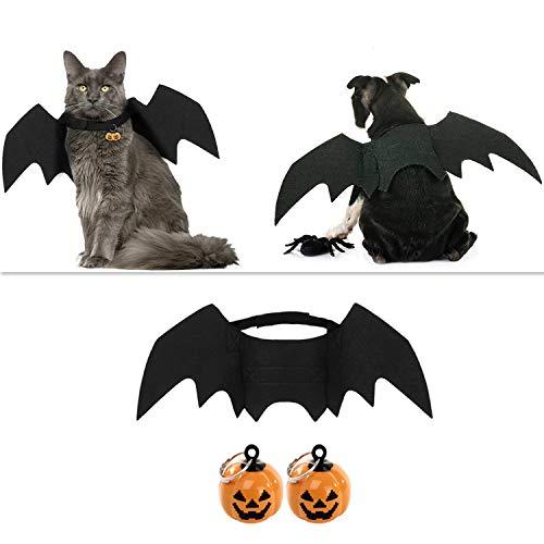 outgeek Halloween Haustier Kostüm Fledermausflügel Cosplay Hundekostüm Katze Kostüm für Party